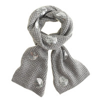 Girls' sequin dot scarf - hats, scarves & gloves - Girl's jewelry & accessories - J.Crew