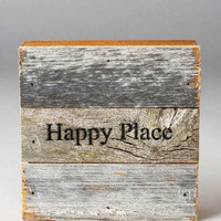 Happy Place Wood Wall Decor