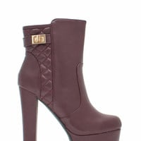 Moto Chic Quilted Booties