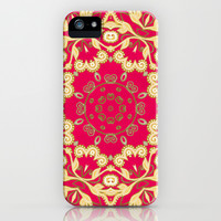 Cassy in Ruby Coral iPhone & iPod Case by Lisa Argyropoulos
