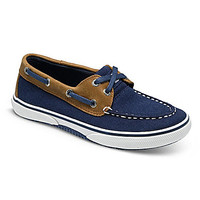 Sperry Top-Sider Boys' Halyard Boat Shoes - Navy/Tan