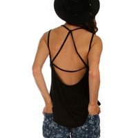 Black Lyss Loo, Oh My Strapes! Tank top