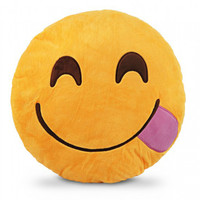 Tongue Emoji Pillow