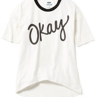 Old Navy Relaxed Hi Lo Tee For Girls