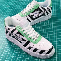 Off White X Nike Air Force 1 Low Af1 Upstep White Black Stripe Shoes - Best Online Sale