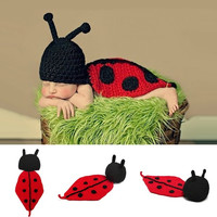 Ladybird Photography Photo Prop Outfits Baby Newborn Infant Toddler Animal  7_S = 1916357636