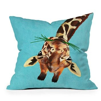 Coco de Paris Giraffe upside down Throw Pillow