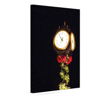 "Robin Dickinson ""Xmas Clock"" Seasonal Canvas Art"