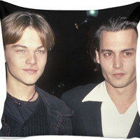 Leonardo DiCaprio + Johnny Depp Pillow