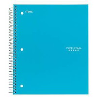 Five Star College Ruled Wirebound 3 Subject Notebook