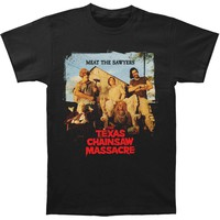 Texas Chainsaw Massacre Men's  Meat The Sawyers T-shirt Black