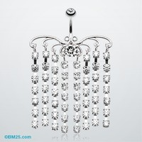 Sparkling Curtain Chandelier Belly Ring