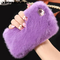 JPHCASE Phone Cases For iPhone 7Colors Bling Warm Fluffy Villi Fur Plush Wool Phones Accessory Cover For iPhone 6/ 6S Plus #WEQ