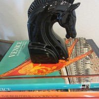 Fits Floyd Japan Black Ceramic Horse Bookend