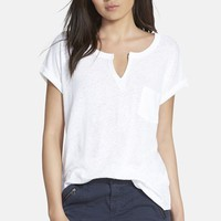 Women's Stem Split Neck Tee
