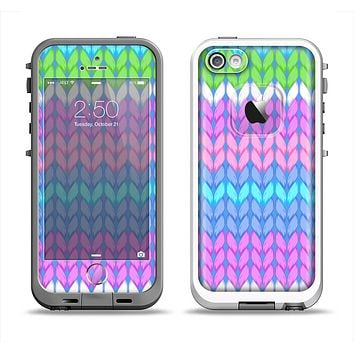The Bright-Colored Knit Pattern Apple iPhone 5-5s LifeProof Fre Case Skin Set