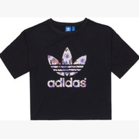 """Adidas"" Women Casual Simple Floral Letter Short Sleeve T-shirt"