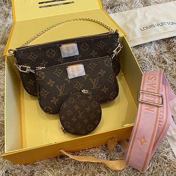 Louis Vuitton LV Crossbody Shoulder Bag Set Three piece