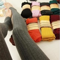Trend Women Lady Knitting Tight High Elastic Super Slim Women's Thick Tights Winter Warm Skinny Tights 4 Colors