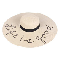 Beach Floppy Hats with Glitter Sequins Funny Verbiage