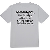 Just Checking On You Tee Sports Grey