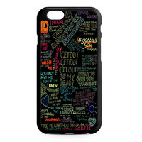one direction song iPhone 6 Case
