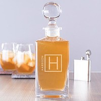 Engraved Name and Initial Decanter