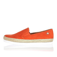 Orange espadrille plimsoles - plimsolls / sneakers - shoes / boots - women