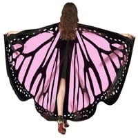 Chamsgend Women Girls Soft Large Butterfly Wings Shawl Scarf Pashmina Fairy Lady Cosplay Costume Accessory 80117