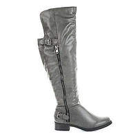 Saver By Soda, Back Strap Buckle Knee High Riding Boots