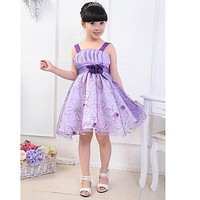 Girl's Fashion Princess Dresses Lovely Summer Party Dresses With Flower #01237637
