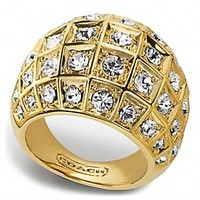 BEVELED PAVE DOME RING