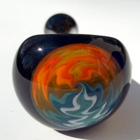 Glass Pipe, One Point Reversal, Fire and Water, One of a Kind, Cgge Team, Ready for Shipping.