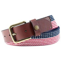 Freedom Belt in Red, White and Blue by Southern Tide