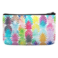Make Up Bags in fruit pineapple pattern in rainbow color for makeup box pencil pouch