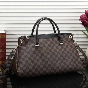 Perfect LV Louis Vuitton Women Shopping Leather Tote Crossbody Satchel Shoulder Bag
