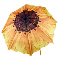 Sunflower Telescopic Umbrella Compact Auto Folding Umbrella