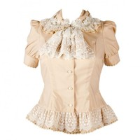 Beautiful Ivory Gothic Lolita Blouse