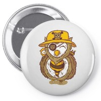 pirate owl Pin-back button