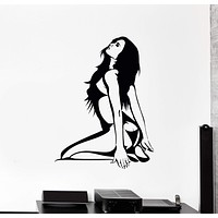 Vinyl Wall Decal Stripper Striptease Dance Hot Naked Girl Stickers Unique Gift (975ig)