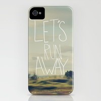 Let's Run Away iPhone Case by Leah Flores | Society6