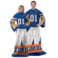 Florida Gators NCAA Adult Uniform Comfy Throw Blanket w/ Sleeves