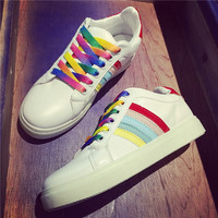 Rainbow Canvas Sports Shoes