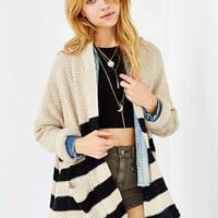 BDG Rolled-Sleeve Open Cardigan-
