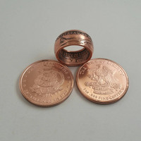 Don't Tread on Me / Gadsden Flag Ring - Hand Forged .999 Pure Copper Coin Ring