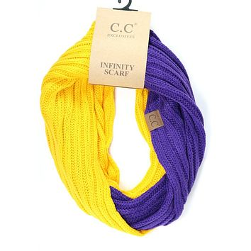 LSU Purple and Gold CC Game Day Infinity Scarf