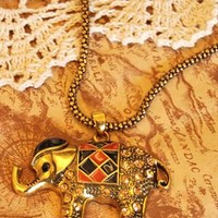 Elephant long necklace from Moonlightgirl