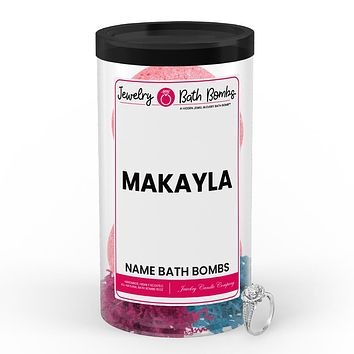 MAKAYLA Name Jewelry Bath Bomb Tube