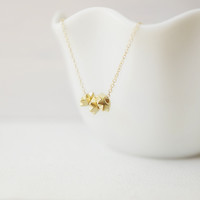 Shimmered Spikes Necklace