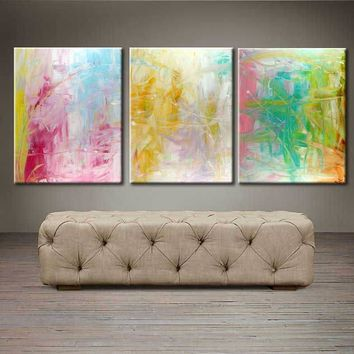 "'Spring blooms'  - 48"" X 20"" Original Abstract  Art."